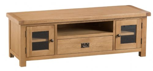 Cornish Oak Large TV Unit